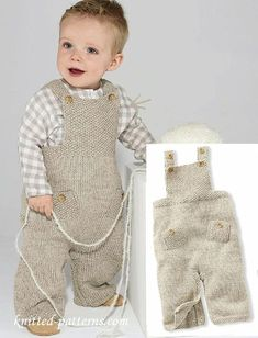 Dungarees with free knitting pattern , Free knitting pattern dungarees , Free knitting patterns Source by goncharenko_ele Baby Boy Knitting Patterns Free, Knitting For Kids, Baby Patterns, Free Knitting, Baby Dungarees Pattern, Baby Pants Pattern, Crochet Baby Pants, Knitted Baby Clothes, Baby Knits