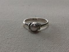 White Pearl with 925 Sterling Silver Ring # Special handmade silver ring # Simple rings with white pearl. Simple Rings, Silver Rings Handmade, Silver Pearls, Pearl White, Cufflinks, Wire, Etsy, Accessories, Jewelry