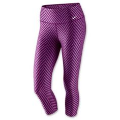 Whatever your workout entails, the Nike Legend 2.0 ZigZag Capri Leggings are along for the ride. With a sleek fit that hugs your body from hips to ankles, these pants are the most flattering workout partner around. The original Legend Training leggings get a fit upgrade in the latest version, offering body-conscious details such as a curve-hugging V-shaped seam that connects the waistband to the legs, as well as leg-sculpting seams that aide in movement. Power mesh helps to keep ...