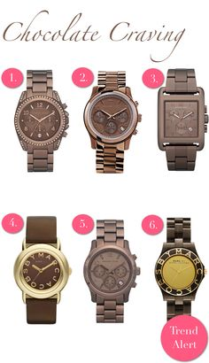 fall watches... like that they are not gold or silver so will go with just about everything!