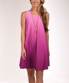 Another great find on #zulily! Fuchsia Ombré Shift Dress - Plus #zulilyfinds
