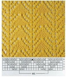 View album on Yandex. Lace Knitting Stitches, Lace Knitting Patterns, Knitting Charts, Lace Patterns, Stitch Patterns, Pick Stitch, Knitting Projects, Yandex Disk, Knitting Patterns
