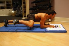 5 Best Abs Exercises to Work Your Core to Exhaustion. Shown here: Spiderman Plank Crunch