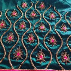 Work in progress! Cut Work Blouse, Hand Work Blouse Design, Simple Blouse Designs, Dress Neck Designs, Sleeve Designs, Bridal Blouse Designs, Aari Work Blouse, Maggam Work Designs, Pattu Saree Blouse Designs