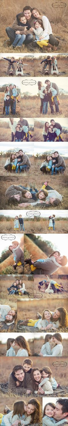 This is a wonderful example of great family styling for a photo shoot. Except for the yellow stockings of the little girl just to bright and distracting. See how the styling works so well in the images