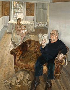 'Large Interior, Notting Hill' (1998) in The London Review of Books Lucian Freud