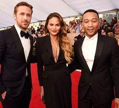 Que trio! Queria ser amiga do Ryan da Chrissy e do John não sei se é pedir muito #sagawards