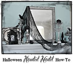 Fox Hollow Cottage: How To Get A Gothic Style Haunted Halloween Mantel
