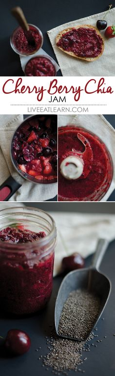 Cherry Berry Chia Seed Jam…2 Ways // Live Eat Learn