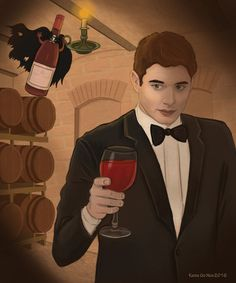 Dean in a haunted wine vault)) Wine Vault, Supernatural Dean, Dean Winchester, Fan Art, Fictional Characters, Fanart