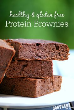 Gluten Free Protein Brownies | gluten free, low fat, low carb, flourless, clean eating recipe, high protein