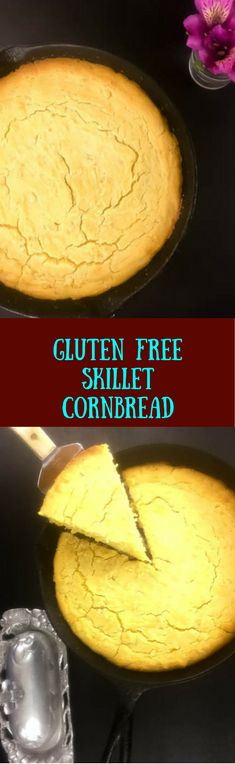 Light and airy yet rich and substantial, this gluten free skillet cornbread bakes in about 30 minutes. Creamed corn and a touch of yogurt keep this gluten free comfort food moist, while just the right amount of sugar makes it perfect for sweet and savory cornbread lovers. | http://asprinklingofcayenne.com