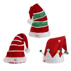 Animated Musical Christmas Hats Pijamas Navideños b0100a0d8d8