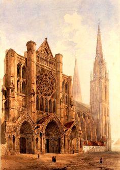 Cathédrale de Chartres. Vue du portail latéral nord Monuments, Places To Travel, Places To Visit, Masonic Symbols, Amiens, Ville France, Rouen, Cathedral Church, Kirchen