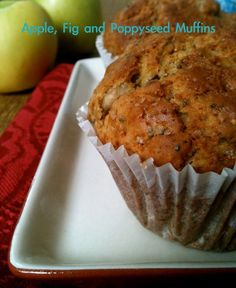 Apple fig muffins recipe, how to cook Apple fig muffins ingredients and directions Fig Recipes, Best Vegetarian Recipes, Muffin Recipes, Apple Recipes, Baking Recipes, Breakfast Recipes, Dessert Recipes, Desserts, Bread Recipes