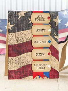 American Heroes, Our Daily Bread designs, Veterans Day, Winter Issue CardMaker Military Cards, Honor Flight, Bead Kits, Veterans Day, Masculine Cards, Memorial Day, Sewing Patterns, Card Making, Challenges