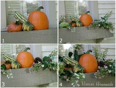 by Step instructions for a nice and easy fall window box.Step by Step instructions for a nice and easy fall window box. Fall Flower Boxes, Fall Flowers, Fall Window Boxes, Fall Containers, Fall Arrangements, Window Planter Boxes, Garden Windows, Autumn Decorating, Autumn Garden