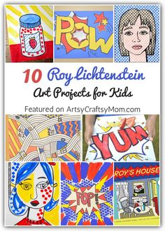 Check out these amazing Roy Lichtenstein art projects for kids to learn more about . - Women& Fashion - Check out these amazing Roy Lichtenstein art projects for kids to learn more about … – - Pop Art For Kids, Art Lessons For Kids, Art Lessons Elementary, Art Project For Kids, Teaching Elementary Art, Artist Project, Preschool Lessons, Roy Lichtenstein Pop Art, Toddler Art Projects