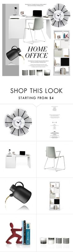 """""""Office Decor"""" by lovethesign-eu ❤ liked on Polyvore featuring interior, interiors, interior design, home, home decor, interior decorating, Black+Blum, office, Home and homeset"""