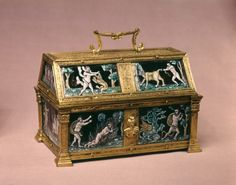 Casket with the Labors of Hercules, ca. 1540. By Pierre Reymond French.
