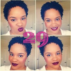 Natural Hair #twa #shortnaturalhair #naturalhair Find over 5,000 more natural hair pins http://www.pinterest.com/curlyconnect/boards/