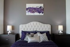 Sherwin Williams 6004 Mink. It's a really pretty color, warm gray with a little purple undertone Richmond Residence modern bedroom
