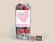 Sweetest Day Chocolate: Heart Full O' Love wrappedhersheys.com #sweetestday #personalizedfavors #holiday #whcandy Happy Sweetest Day, O Love, Personalized Favors, Chocolate Gifts, Special Person, Cute Gifts, Gift Ideas, Heart, Holiday