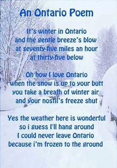 Ontario poem--Love my home province! hehehe...