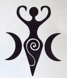 Pagan Esoterica: The Ram, Ovaries, Divine Feminine, Baphomet and Goddess Movements – All Truth Exposed Gaia Goddess, Black Goddess, Mother Goddess, Triple Goddess, Earth Goddess, Goddess Symbols, Pagan Symbols, Ancient Symbols, Viking Symbols