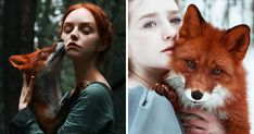 Fairytale Portraits Of Redheads With A Red Fox By Uzbek Photographer https://plus.google.com/+KevinGreenFixedOpsGenius/posts/HfSCSn9ny1S