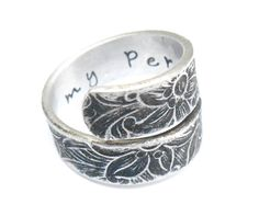 You're My Person  Quote Ring Hand Stamped Ring by ClintonStudios $24.97