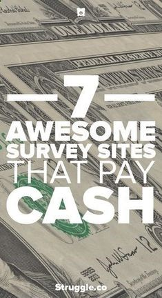 Survey sites are a great way to earn extra money each month working from home. Here are 7  sites that you can use to earn money online without breaking a sweat working at home. #GreatBusinessCardMakers