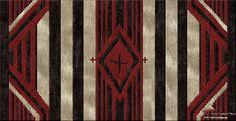 Hopi Kiva - Southwest-Geometric custom area rug.  Make yours today at www.HighCountryRugs.com