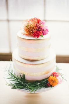 Think Pink Colorado Wedding Event from Carrie King Photographer - wedding cake idea