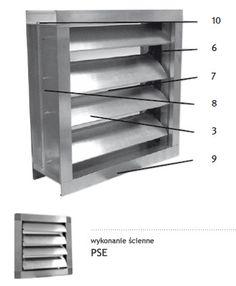 Przepustnice samoczynne aluminiowe PSE, PSK dzięki użytemu materiałowi zapewniają wyjątkową trwałość przed działaniem korozji.