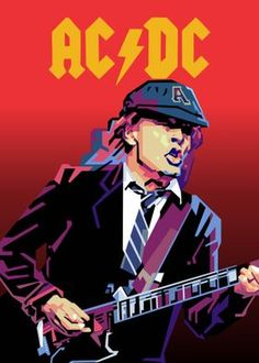 Greatest Guitarist poster prints by Ahmad Hanafi Brian Johnson, Matt Brown, Angus Young, Presents For Dad, Poster Making, Poster Prints, Posters, Rock N Roll, Iron Maiden