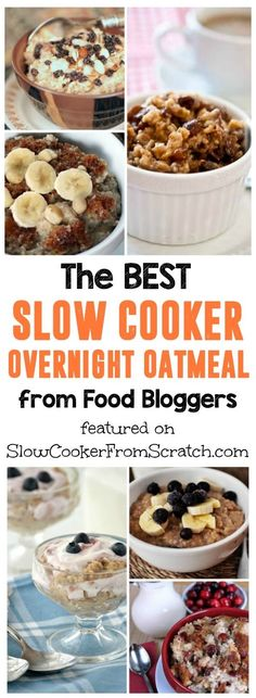 Pick a recipe from this collection of The BEST Slow Cooker Overnight Oatmeal from food bloggers and wake up to breakfast ready in the crockpot! And overnight oatmeal is perfect for busy mornings or when you have overnight guests. [featured on SlowCookerFromScratch.com]