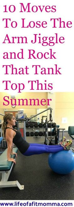 Learn the best exercises for getting rid of the arm flab or jiggle and say goodbye to those bat wings for good. These 10 exercise moves will help you tone up your arms so that you can get ready to rock those tank tops and sleeveless dresses this summer with confidence! This workout can be done at home or at the gym! Get ready to tone it up!