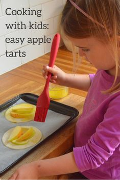 An easy Autumn recipe for apple tarts, perfect for cooking with children.