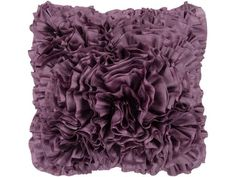 Surya Prom 18 X 18 inch Bright Purple Pillow Kit for sale online Purple Pillows, Black Pillows, Fur Throw Pillows, Sofa Pillows, Couch, Bright Purple, Coral Pink, Ruffle Pillow, Rainbow Flowers