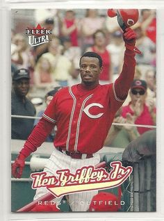 af36455711 2005 Fleer Utra - #182 - Ken Griffey Jr. - Cincinnati Reds #CincinnatiReds