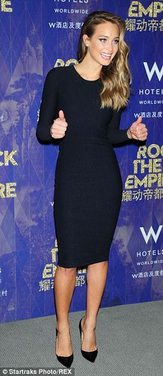 Something's missing: While the dress showed off her slim figure it was missing a few key f...