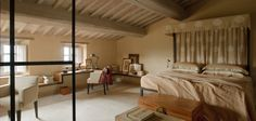 Monteverdi hotel and villas to rent in Tuscany. Beautiful place in a restored medieval village. Room from one of the villas