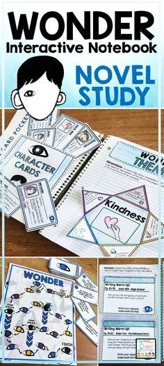 Wonder by R.J. Palacio Novel Study - Students love the Interactive Notebook format!