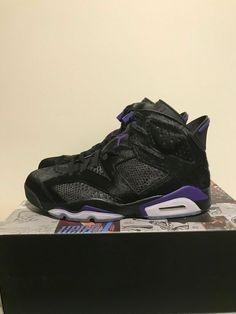 7a9e9424e657 New Nike Air Jordan Retro 6 VI Social Status Black Purple Cow 8.5 9.5 10.5  11.5