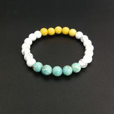 Bracelet, lava, howlite, Turquoise www.espiria.sk Lava, Turquoise Bracelet, Beaded Bracelets, Jewelry, Jewlery, Jewerly, Pearl Bracelets, Schmuck, Jewels