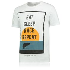 McLaren Eat Sleep Race Repeat T-Shirt - White