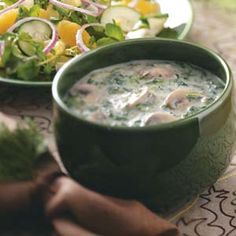 Mushroom-Spinach Soup