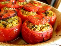 roasted stuffed peppers (how do you do that?) 19 Signs You Were Raised in a Greek Family