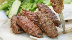 Something a little different, and a lot delicious, to throw onto your barbecue. These Greek-inspired skewers are sure to get your mouth watering. Lebanese Recipes, Turkish Recipes, Greek Recipes, Indian Food Recipes, Arabic Recipes, Skewer Recipes, Wine Recipes, Cooking Recipes, Lamb Mince Recipes